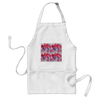 Tall Flowers in Red, Pink and Purple Standard Apron