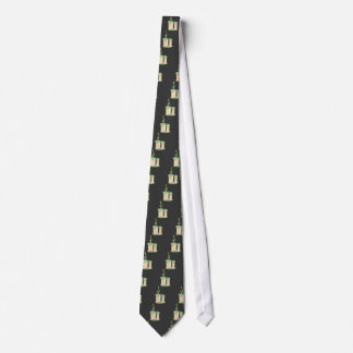 Tall green Birthday cake Tie