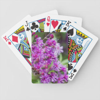 Tall Ironweed Wildflowers Bicycle Playing Cards