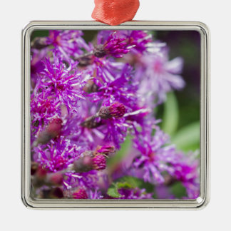 Tall Ironweed Wildflowers Metal Ornament