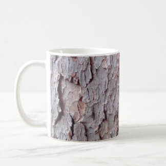 Tall Pine Tree Bark Wallpaper Basic White Mug