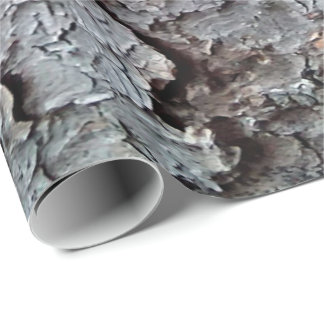 Tall Pine Tree Bark Wallpaper Wrapping Paper