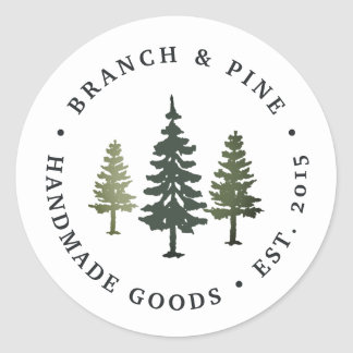Tall Pines Classic Round Sticker