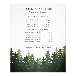 Tall Pines Pricing & Services 11.5 Cm X 14 Cm Flyer