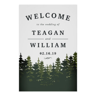 Tall Pines Wedding Welcome Poster