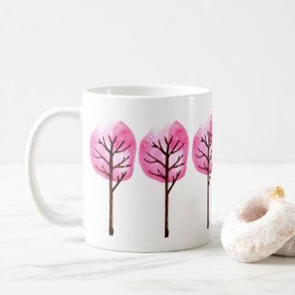 Tall Pink Trees Coffee Mug