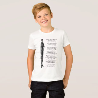Tall President Abraham Lincoln Cute Vintage Rhyme T-Shirt