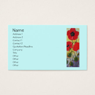Tall Red Poppy II Business Cards