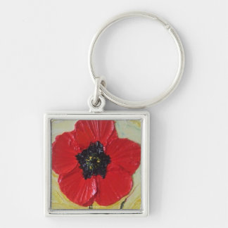 Tall Red Poppy II Keychain