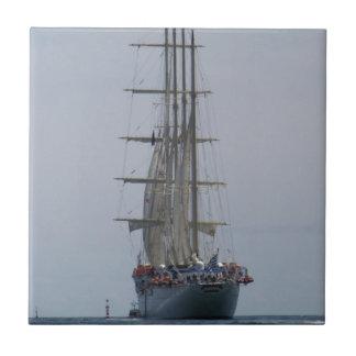 Tall Ship Entering The Open Sea Tile
