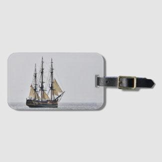 Tall ship HMS Bounty replica luggage tag