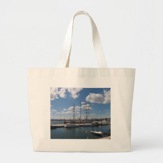 Tall Ship In The Port Of  Varna Bag
