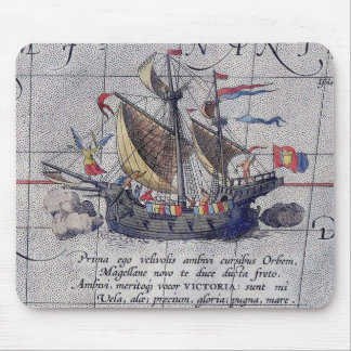 Tall Ship Map of the Pacific Ocean Mouse Pad