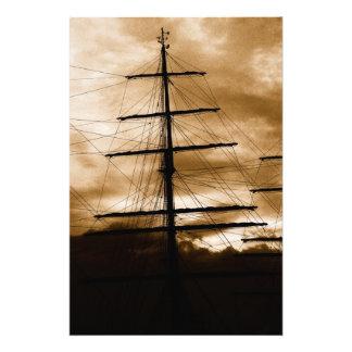 Tall ship mast photo art