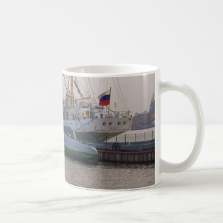 Tall Ship Mir And Submarine Coffee Mug