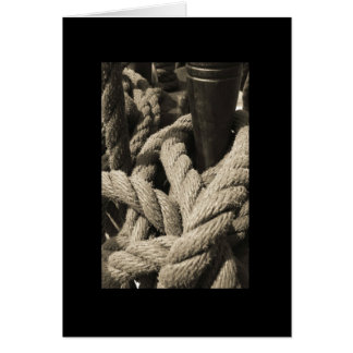 Tall Ship Rope Card