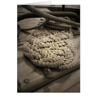 Tall Ship Rope Coil Card