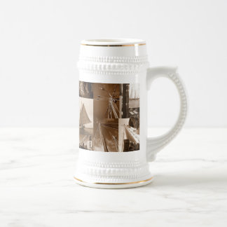 Tall Ship Sailing Beer Stein
