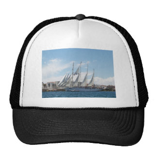 Tall Ship Sailing Out Of Harbor Cap