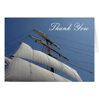 Tall Ship Sails Thank You Note Card