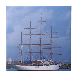 Tall Ship Sea Cloud Small Square Tile