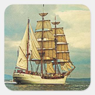 Tall Ship Square Sticker