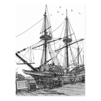 Tall Ship Susan Constant Postcard