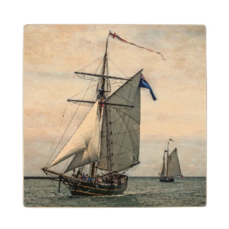 Tall Ships Festival, Digitally Altered Wood Coaster