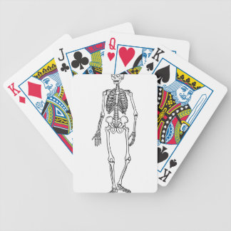 Tall Skeleton Bicycle Playing Cards