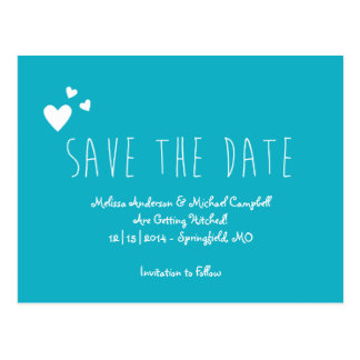 Tall Skinny Save The Date Postcard