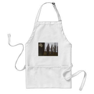 Tall Soldiers (black and white surrealism) Apron