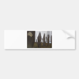 Tall Soldiers (black and white surrealism) Bumper Stickers