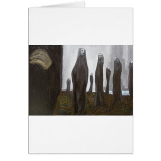 Tall Soldiers black and white surrealism Greeting Cards