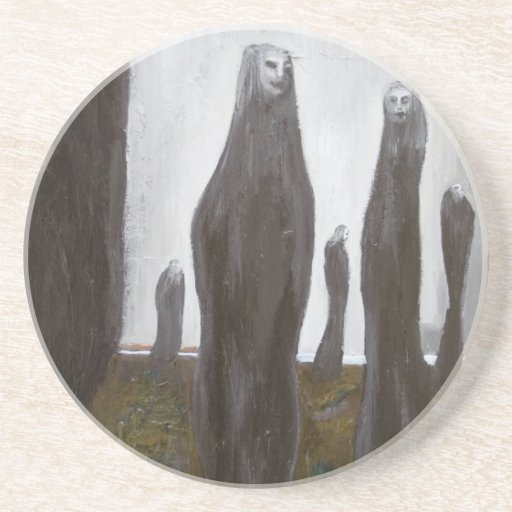 Tall Soldiers (black and white surrealism) Drink Coasters