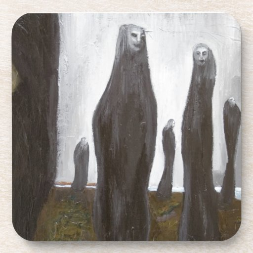 Tall Soldiers (black and white surrealism) Beverage Coaster