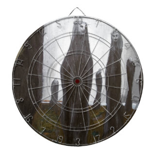 Tall Soldiers (black and white surrealism) Dartboard With Darts
