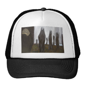 Tall Soldiers black and white surrealism Trucker Hats