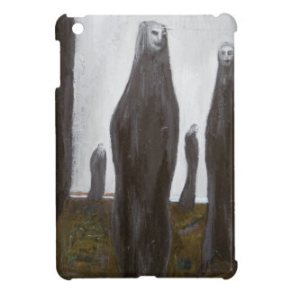 Tall Soldiers black and white surrealism iPad Mini Cover