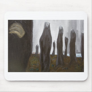 Tall Soldiers black and white surrealism Mouse Pad