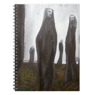 Tall Soldiers black and white surrealism Note Books