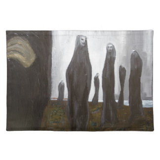 Tall Soldiers (black and white surrealism) Placemat