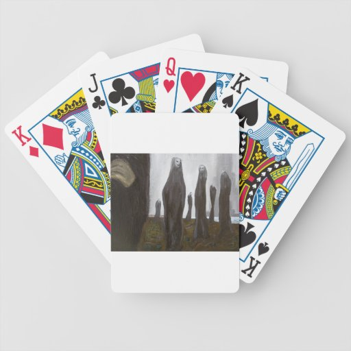 Tall Soldiers (black and white surrealism) Card Deck