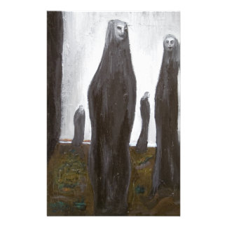 Tall Soldiers (black and white surrealism) Stationery