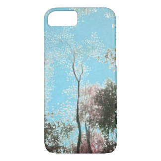 Tall Trees with Maroons, White and Blue Colors iPhone 8/7 Case