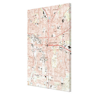 Tallahassee Florida Map (1999) Canvas Print