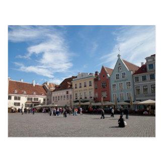 Tallinn city center postcard