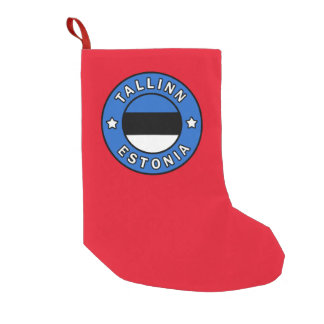 Tallinn Estonia Small Christmas Stocking