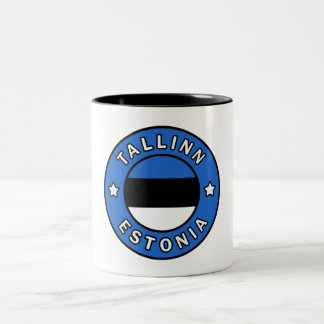 Tallinn Estonia Two-Tone Coffee Mug