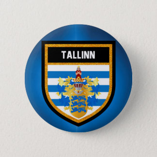 Tallinn Flag 6 Cm Round Badge