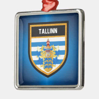 Tallinn Flag Metal Ornament